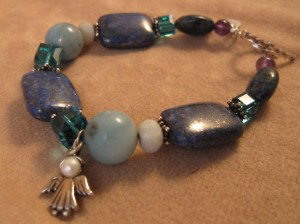 Apatite with Amazonite & Amethyst Bracelet