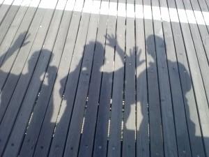 Brooklyn Bridge Shadow People